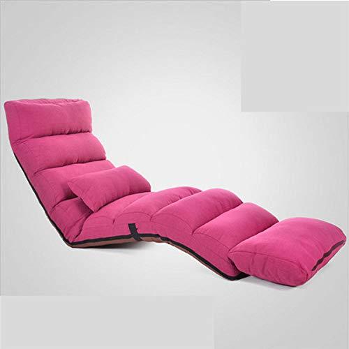 Stoel LKU Slaapbank lounge gestoffeerde fauteuil indoor woonkamer fauteuil 5 kleuren vloer opvouwbaar verstelbaar, rode kleur