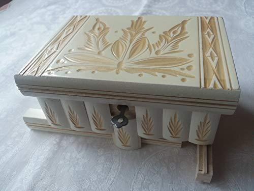 Caja puzzle joyero mágica tesoro blanco misterio de almacenamiento secreto compartimiento de caja de madera decoración para el hogar