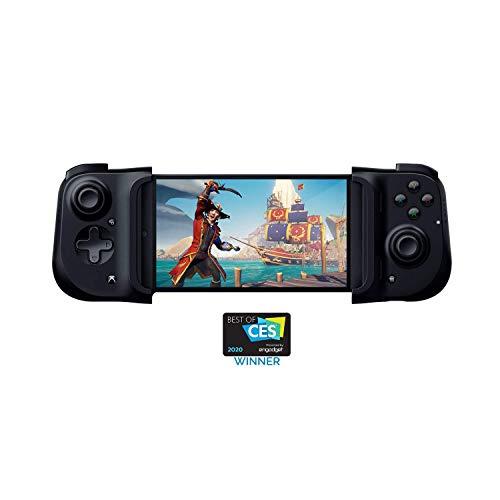 Razer Kishi para Android (Xbox) - Controlador de Juegos para teléfonos, conexión USB-C, diseño ergonómico, Ajuste Individual para teléfonos móviles, Dispositivo analógico - Negro