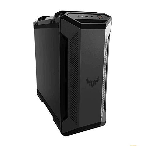 ASUS TUF Gaming GT501 Boîtier PC gaming ATX/EATX, Panneau en verre trempé, 3 ventilateurs 120mm RGB adressable et Aura sync, un ventilateur arrière PWM de 140 mm