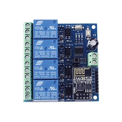 Qiyue Bao Zhuang ESP8266 5V WiFi Relay Internet der Dinge Smart Home Mobile App Fernschalter Vierwege Smart Modulplatine Leiterplatte