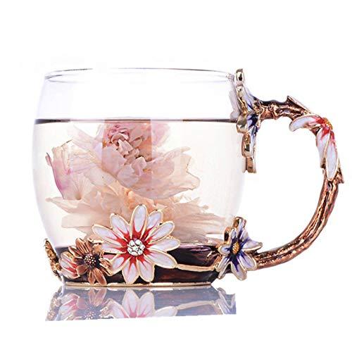 HXAZGB Hitzebeständige Emaille Glas Becher Wodka Tasse Milch Kaffee Tee Saft Espresso Tassen Drink Kreative Weihnachtsgeschenk