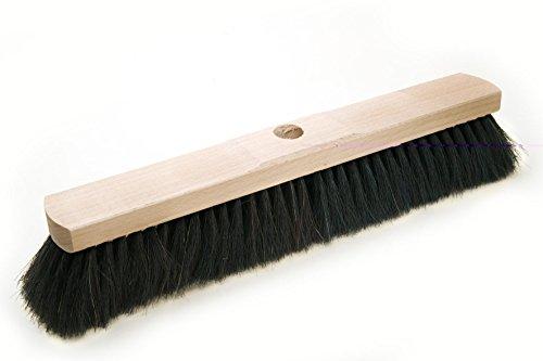 BawiTec Rosshaarbesen mit Stielloch Kehrbesen weich 28cm 40cm 50cm 60cm Naturhaar Rosshaar Besen (50cm)