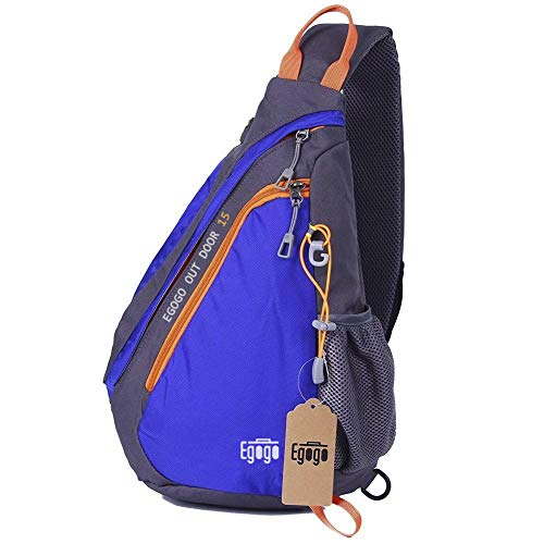 EGOGO Multifunktions Sling Pack Bag Rucksack Cross Body Umhängetasche Schultertasche Fahrradrucksäck (Heiß Blau)