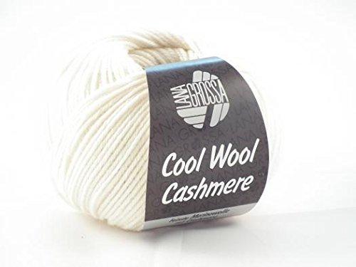 Lana Grossa Cool Wool Cashmere superfein freie Farbwahl Wolle Merino Kaschmir (12 - Weiß)