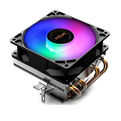 Noua Haku - Disipador de calor RGB para CPU Intel Socket 1200 775 1150 1151 1155 1156 1366 AMD AM3 AM4 Cooler Cooling Fan 1800 RPM de 90 mm Rgb Rainbow Auto