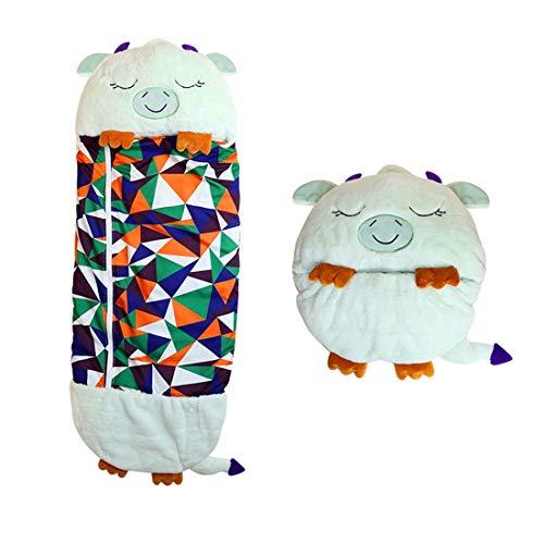 NMVB Bolso de Dormir Animal para niños, diversión de niños Saco de Dormir, Plegable Suave cómodo cálido de Dibujos Animados de Dibujos Animados Almohada para el hogar, al Aire Libre, Acampar, Viajar