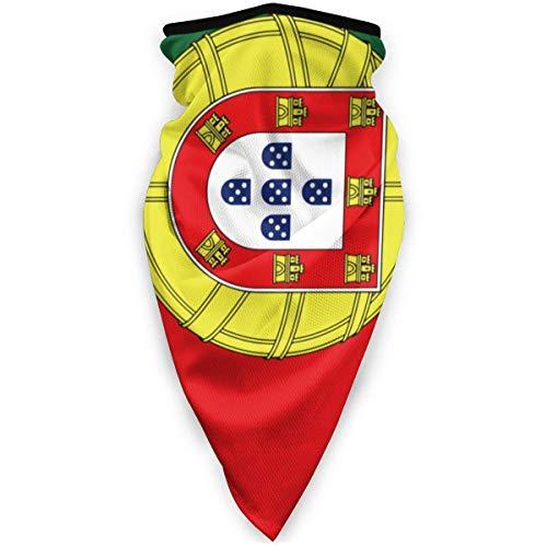 Tzshak Drapeau du Portugal écharpe Coupe-Vent Masque Facial Masque Anti-poussière Lavable Cagoule Bandana