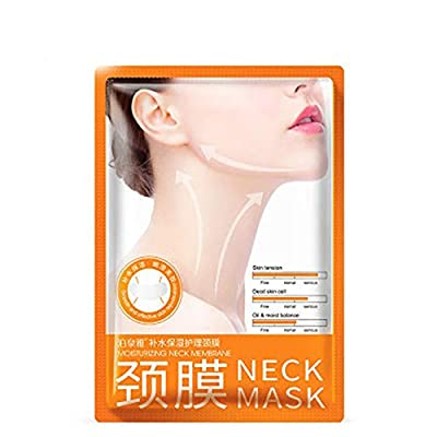 CUEYU Neck Mask – Lotus.Flower Anti Aging Anti Wrinkle Collagen Neck Mask Cream Sheet Best Neck Tighten+Lift+Firming+Whitening Skin Care 1PC/5PCs (1PC)