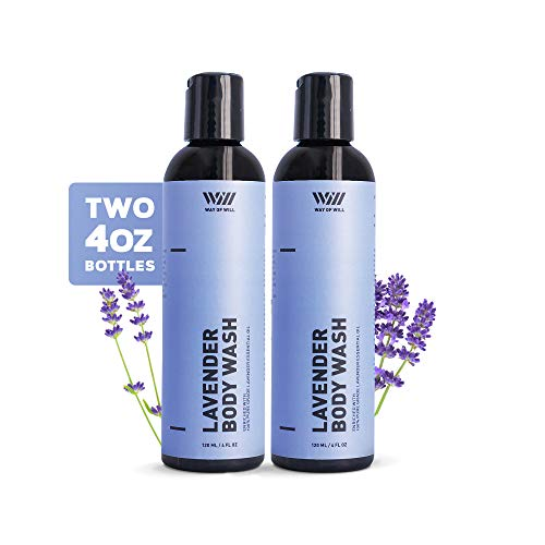 Lavender Body Wash, Calming and Moisturizing Body Wash for Women and Men, Body Wash with Lavender Essential Oil, Paraben and Sulfate Free, 120 mL - Way of Will