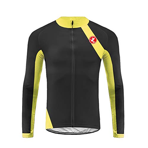 Uglyfrog Pro Cycle Jersey Mens Long Sleeve Professional Cycling Clothing Best for Road Bike Mountain Biking