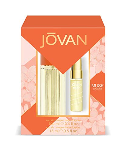Jovan Musk Pack Damen Eau de Cologne Natural Spray 100ml + Eau de Cologne Natural Spray 15ml
