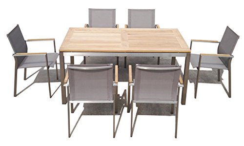 Matodi Nexus Gartenmöbel Set 7 teilig Sitzgruppe Edelstahl