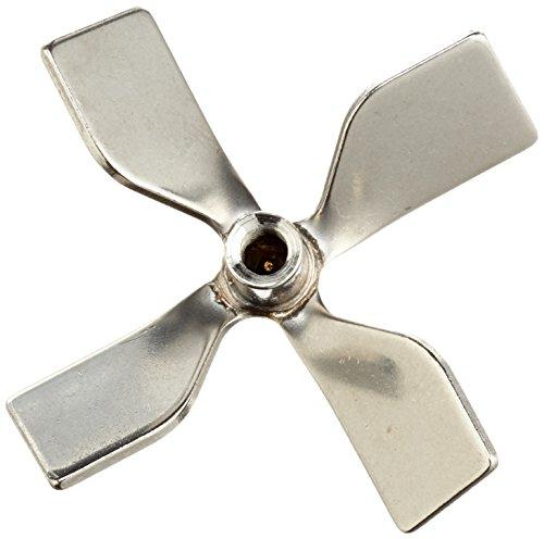 neoLab, Edelstahl-Mixer, Rührer zum Mischen, für Rührstab 6mm, kleeblattförmig, Durchmesser 50mm, Modell 2 2381