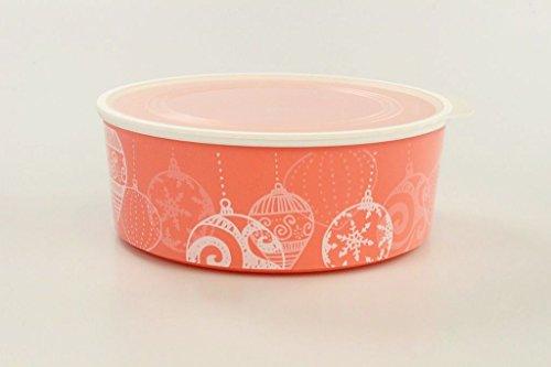 Tupperware Galletero Click de 1,5 L Naranja Pastel-Blanco Bola de Navidad 35475