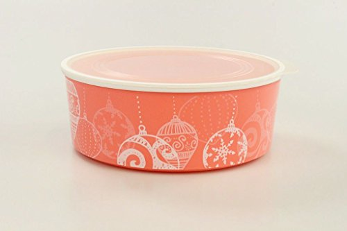 Tupperware Quadro 1,5 L pastellorange-weiß Weihnachtskugel rund Keksdose Ultimo 35475