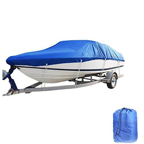 LDIW Cubierta para Barco Marine Grade 600D Polyester PVC Trailerable Impermeable UV Barco Protegido Cubierta de esquí Forma de V Cubierta de yate,11to13ft