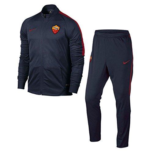 Nike Roma Y NK Dry TRK Suit SQD K - Trainingsanzug AS Roma Schwarz - L - Unisex Kinder