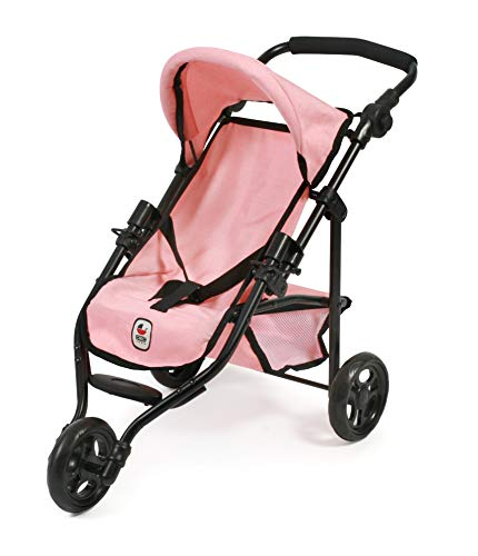 Bayer Chic 2000 612 14 Jogging-Buggy Lola, Puppenwagen, Puppen-Jogger, Melange Apricot