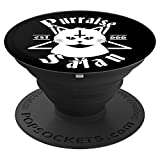 Satanic Cat Gift Purraise Satan Pentagram 666 For Atheist PopSockets Grip and Stand for Phones and Tablets