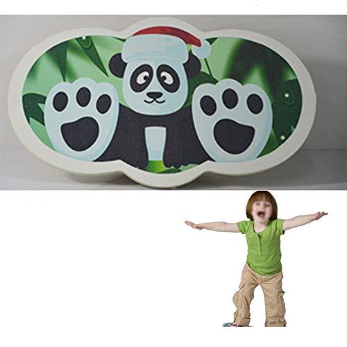 lxfy Balance Board for Kids - Balancierspielzeug aus Holz für die Entwicklung von Koordination und Balance mit lustigem Panda-Design für Jungen und Mädchen