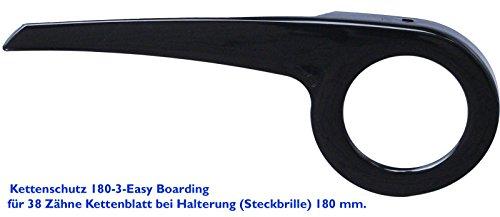 DEKAFORM Tiefeinsteiger Sonderanfertigung Fahrrad Kettenschutz für Easy Ride Comfort Bike Mifa Norma 36/38 Zähne 180-3-EB-schwarz