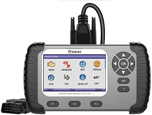 VIDENT iAuto 702Pro ABS,SRS Scan Tool with 19 Maintenances Special Funtion IMMO,DPF,EPB,Oil Light Reset,TPS,BRT,Injector Coding etc 3 Years Free Update Online