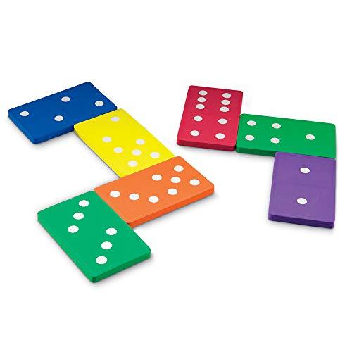 Learning Resources- Fichas de dominó Jumbo de Espuma Blanda, Color (LER6380)