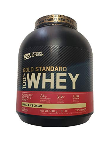 Optimum Nutrition 100% Whey Gold Standard Supplemento Nutrizionale (5lbs), Gusto Vaniglia, 2.27 kg