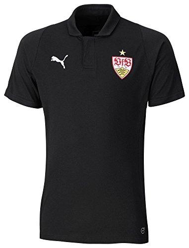 PUMA Herren VfB Stuttgart Casuals Polo T-Shirt, Black, M