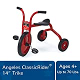 "Angeles ClassicRider 14"" Trike Bike, Red – Perfect for Beginner Riders Ages 4+ – Encourages Active Play – Supports Up to 70lbs. – Durable Design with Built-In Safety Features – Comfortable Ride"