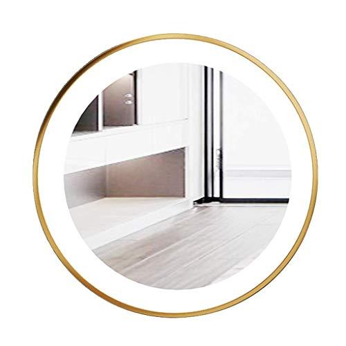 Household wandspiegel LED spiegel rond woonkamer metaal muur verlichte make-up spiegel 60*60CM Zwart