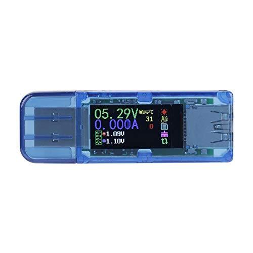 USB-Tester, RuiDeng AT34 USB 3.0 Farb-LCD-Voltmeter Amperemeter Strommesser Multimeter-Ladegerät USB-Tester