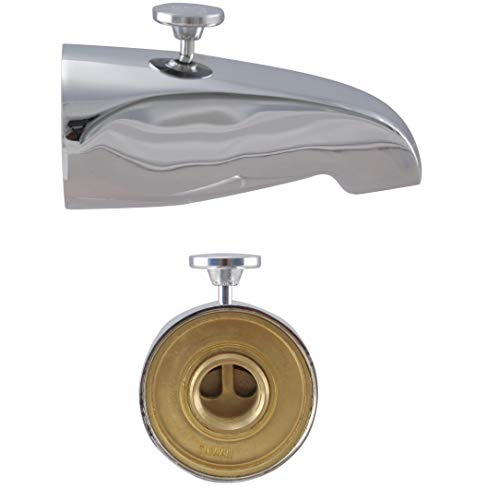 Westbrass 5-1/8' Diverter Tub Spout with 1/2 Inch or 3/4 Inch Rear Inlet, Chrome, 531D-12R