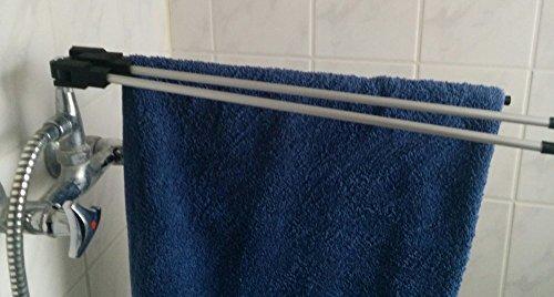 Dusch- und Badewannentrockner (3-fach) Wäscheständer Wäschetrockner Badewanne Trockner