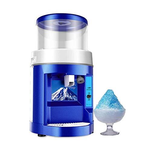 JJSFJH Eiszerkleinerer rasierte EIS-Maschinen for Gewerbe Ice Shaver Automatische große Kapazitäts-Schnee-Kegel-Maschine Dicke Einstellbare EIS Rasiermaschine Shaved Ice Crusher