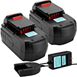 Lotive 2 Pack 18V 3.0Ah PC18B Ni-HM Battery and One 1.2V-18V Charger Compatible with Porter Cable PC18B-2 PCC489N PCMVC PCXMVC PC18BL PC18BLX PC18BLEX