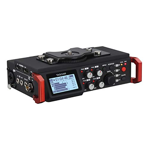 Tascam DR-701D – Grabadora de audio de 6 canales para cámaras DSLR