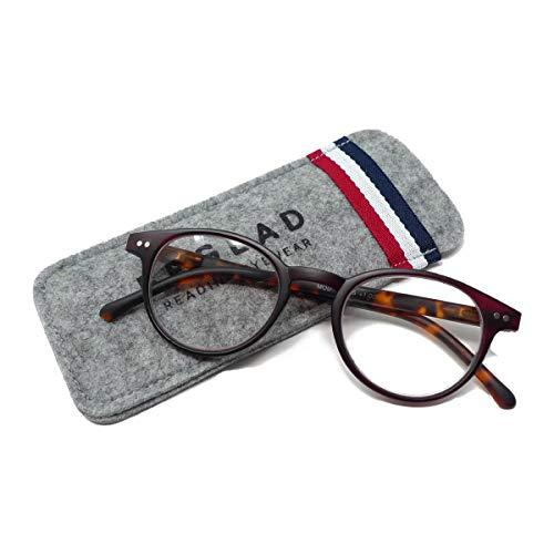 ビグラッド(BEGLAD) 老眼鏡 レッド 度数:+1.50 【トレンドデザイン おしゃれなケース付】 BT2015RD/DBR