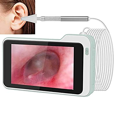 Ear Inspection Camera with 5 inch IPS Screen Digital Otoscope with Earwax Removal Kit Tools Ear Scope Cleaning Tool