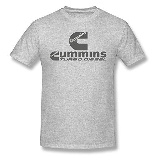 Men's T- Shirt Cummins Short Shirts Style Blouses T-Shirt Gray Medium
