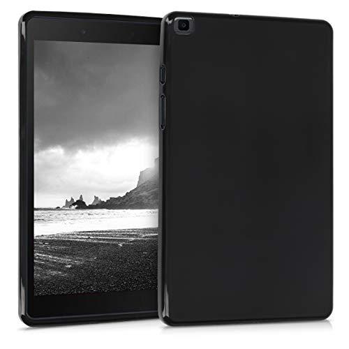 kwmobile Funda Compatible con Samsung Galaxy Tab A 8.0 (2019) - Carcasa para Tablet de TPU - Cover en Negro Mate