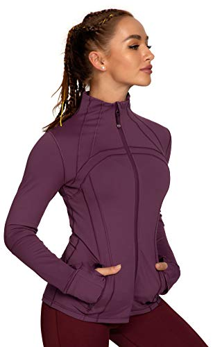 QUEENIEKE Women's Sports Define Jacket Slim Fit and Cottony-Soft Handfeel Size XS Color Rose Red