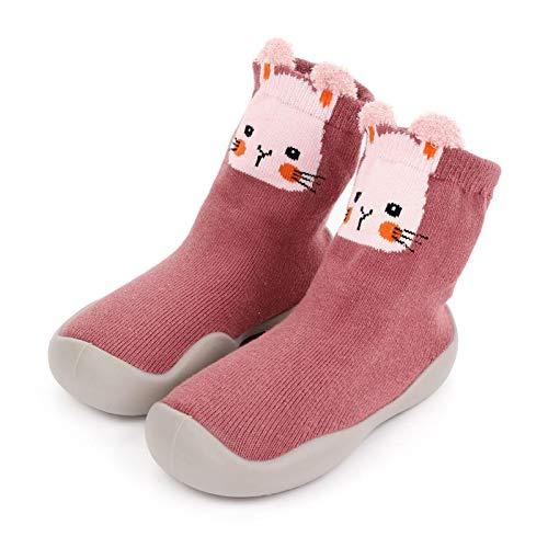 Seii Niños Niños Pequeños Animal Suela De Goma Antideslizante Zapatilla De Piso Interior Bebé Niño Niñas Algodón Transpirable Zapatos Al Aire Libre Calcetines Popular
