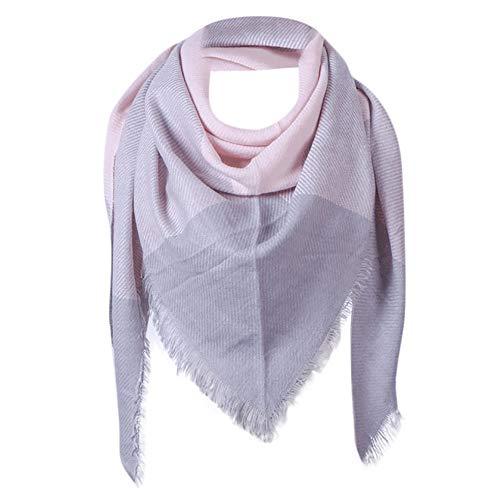 Dorical Damen Winter Warm Lattice Fringe Square Lange Wrap Schal Fashion Schal Schals Stola Cape Clearance