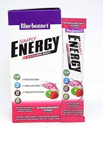 BlueBonnet Nutrition Simply Energy Powder, Strawberry Kiwi, 14 Count