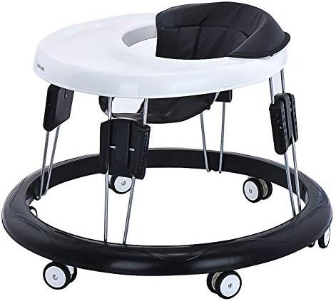 Trotteur bébé chaise bébé réglable pour les bébés de plus de 6 mois Noir