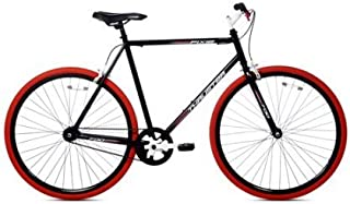 Kent 700C Men's, Thruster Fixie Bike, Black/Red