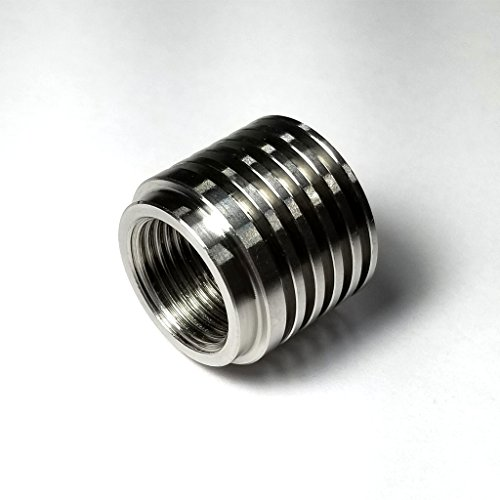 Stainless O2 Sensor Bung/Boss - Heat Sink Type - M18x1.5mm Thread Pitch - SS304 - Stainless Bros