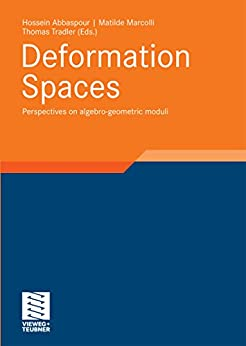 Deformation Spaces: Perspectives on algebro-geometric moduli (Aspects of Mathematics Book 40) (English Edition) de [Hossein Abbaspour, Matilde Marcolli, Thomas Tradler]